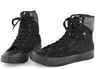 Mens Lace Up Military High Top Hiking Side Zip Work Shoes Tactical Ankle Boots
