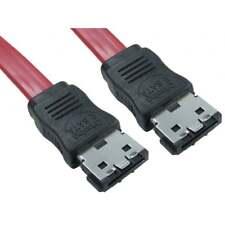 1m Medidor eSATA eSATA SATA 3 de alta velocidad 6Gb Cable Serial ATA 3.0 Rojo Plomo