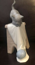 Lladro Nao 1592 Kitten Playtime Retired Mint Condition! No Box!