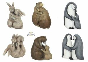 NEW CUTE resin animals  Bunny Bear Penguin Ornament Home FREE POSTAGE