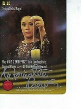ANTOINETTE BOWER STAR TREK CCG Trading Card AUTOGRAPHED Signed - SYLVIA - WILD