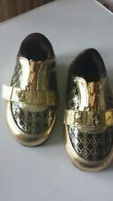 Baby Phat girls gold & black shoes size 6