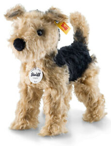 Steiff Terri the Welsh terrier - mohair soft toy collectable puppy dog - 033735