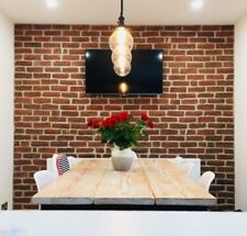 Chicago Rojo Brick Slips, Wall Cladding, Feature Wall, Brick Tiles SAMPLE