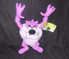 "Purple Fuchsia Pink Tasmanian Devil Taz Plush Looney Tunes WB Sugar Loaf NEN 14"""