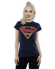DC Comics Women's Supergirl Logo T-shirt X-small Deep Navy