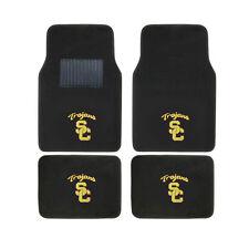 New 4pcs NCAA USC Trojans Car Truck Front Rear Carpet Floor Mats Set