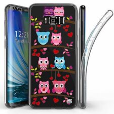 For Samsung Galaxy S8 Plus,Tri Max Transparent Full Body Case Cover BIRD on WIRE