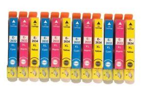 12 Colour Ink Cartridges 26XL For Epson XP 520 XP 610 XP 625 XP 700 XP 810 XP820