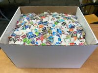 GB UK Great Britain Off Paper Machin Definitive 500 pcs Stamps Collection Lot