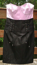 Dress Bless'ed Are The Meek BNWT 8 strapless fitted black skirt mauve bodice
