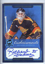 13/14 UD The Cup Enshrinements #RI Richard Brodeur On Card Autograph #12/60