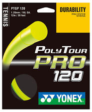 Yonex Poly Tour Pro 17/1.20mm Stringa Di Tennis Set-Giallo