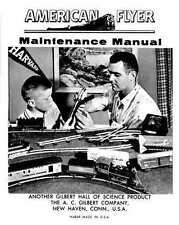 AMERICAN FLYER M4869 MAINTENANCE MANUAL SHEET Trains Parts - Copy