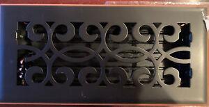Hampton Bay Floor Vent Register Air Ventilation 4x10 Scroll Oil Rubbed Bronze