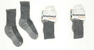 SmartWool 272902 Kids' Hike Light Crew Socks Gray 3 Pack Size M