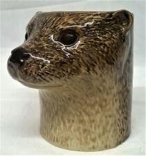 More details for quail ceramic otter desk tidy, pencil, pen, brush pot or vase - wildlife animal