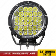 """128W Round Led Work Driving Off road lights 7"""" Inch 32leds 11000Lumens IP67 X1pc"""