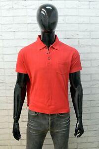 Polo Uomo Calvin Klein Maglietta Taglia M Shirt Manica Corta Maglia Cotone Rosso