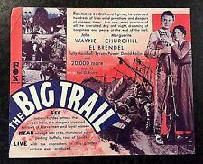 THE BIG TRAIL 1930 MOVIE HERALD - JOHN WAYNE