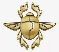 Disney Aladdin Golden Scarab Beetle Pocket Mirror