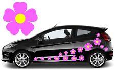 32 Bebé Rosa y Flor de color amarillo coche calcomanías, pegatinas, pegatinas de gráficos de coche, Daisy