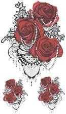1,59€/Stk  2 Tattoo Rose Temporäres Tattoos Sticker Body Tattoo Wasserfest T058