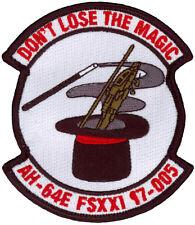 US ARMY AH-64E FLIGHT SCHOOL CLASS 17-005 PATCH