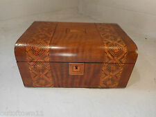 Antique inlaid Walnut Sewing  Box  ref 2419
