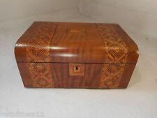 Antique inlaid Walnut Sewing  Box  ref 2419