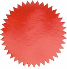 """Shiny Red Foil Seal Labels for Awards, Certificates, Pack of 100, 2"""" diameter"""