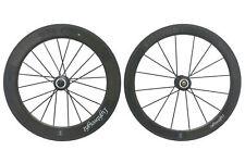 Lightweight Fernweg 60 / 80 Road Bike Wheel Set 700c Carbon Clincher 10 Speed
