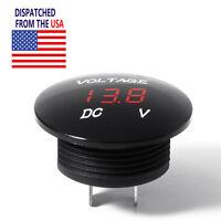 US Ship DC 12V LED Panel Digital Voltage Meter Display Voltmeter Car Motorcycle