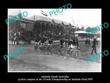 OLD HISTORIC PHOTO OF ADELAIDE SOUTH AUST, BICYCLE RACE AT ADELAIDE OVAL c1895