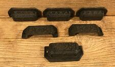 "Antique Unique Cast Iron Drawer Handle 3 5/8"" wide (Set of Six) 0170S-05128"