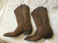 Ariat Cowgirl Brown Leather Mid-calf Cowboy Boots barely used size UK6 USA 8.5