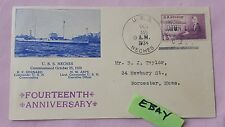 USS Neches Commissioned 14th Anniversary Mothers of America Stamp Naval 1934