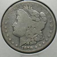 1879-S Morgan Silver Dollar $1 Good 90% Silver Scarce Reverse 1878
