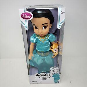 "DISNEY STORE Jasmine Aladdin Animators Collection 16"" Doll New Mark Henn NOS"