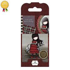 Gorjuss Rubber Mini Stamps *THE GETAWAY* Girl Rocking Horse Card Making - 20