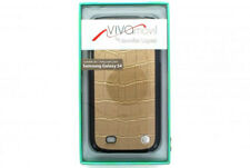 NEW Viva Movil Croc Leather Case for Samsung Galaxy S4 IV - Gold