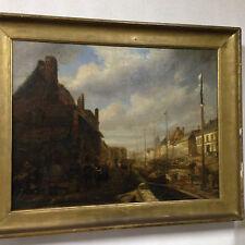 tableaux peinture à l'huile signée - E - Bozière datée 1850  . XIX siècle .