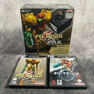 Nintendo GameCube PAL Metroid Prime Pak Rare + Metroid Games Variant Bundle