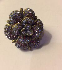 Heidi Daus Profusion Flower Crystal Ring Size 6 1/2