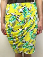 FAB COUNTRY ROAD FLORAL PRINT WRAP SILK SKIRT SZ 4 (8)