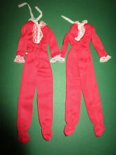 312) 2 BARBIE best buy Overalls Red Sleepers #7203 MATTEL 1975 una riparare ad