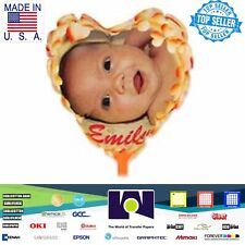 "Heart Shape InkJet Printable Personalized Ballons A4 (8.27""x11.69"") 1 Sheet"