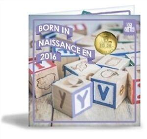 Canada 2016 - Born in Canada Baby Gift Uncirculated Set - Special Edition Loonie