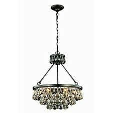 Bettina Collection Pendant Lamp D-22 Inch H-22 Inch Lt-6 Bronze New