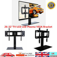 26-32'' Universal TV Stand LCD LED Plasma Bracket VESA Mount Table Monitor Riser